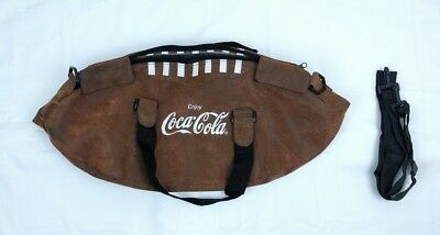 Coca Cola Logo Football shaped Tote Bag w detachable Shoulder Strap zip closure