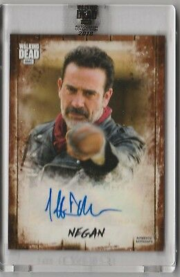 2018 Topps Walking Dead Negan Jeffrey Dean Morgan Auto #1/25 Encased Auto Ssp