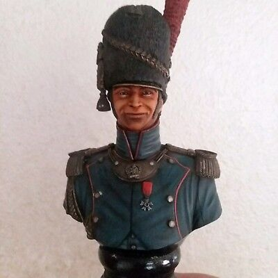 French Foot Guard Artillery Officer Bust Napoleonic Painted 200mm (1/9 scale)da