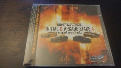 INITIAL D Super Eurobeat Arcade Stage 4 Soundtrack Music CD MIYA Records