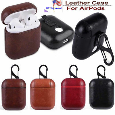 Leather Airpods Earphone Protective Cover Case For Apple AirPod iPhone U.S Stock