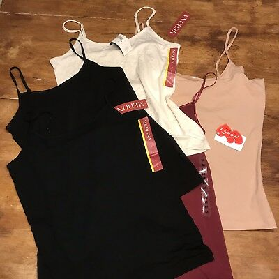 Mixed Lot Of Camisoles Tanks Nwt Various Basic Brands S-l