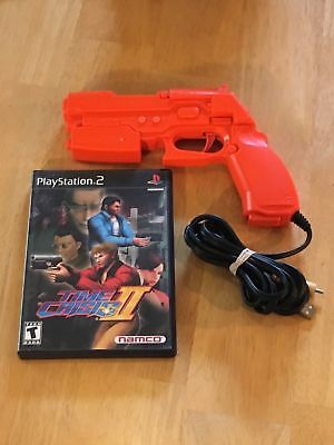Time Crisis II + Guncon 2 Sony PlayStation 2 PS2 Complete Gun Game Case Manual