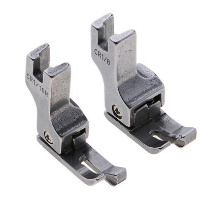 2pcs Industrial Sewing Machine Part Full Steel Right Edge Guide Presser Foot