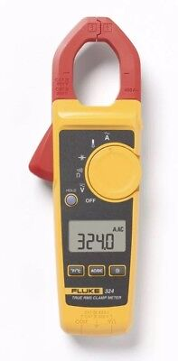Fluke 324 40/400A AC, 600V AC/DC True-RMS Clamp Meter, Temp, Capacitance (NEW)