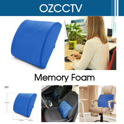 Lumbar Back Support Cushion Pillow Memory Foam Waist Home Office Car Seat Chair