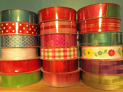 "NEW PER METRE WIRE-EDGED WIRE-EDGE CRAFT RIBBON 1.5"" or 2.5"" WIDE (3.8cm /6.3cm)"