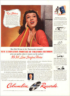 1942 WW2 era AD COLUMBIA MASTERWORKS RECORDS , Rise Stevens Oper Star 123118