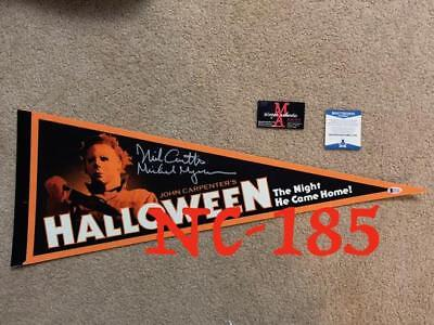 Nick Castle Halloween Auto Signed Pennant! Beckett Authentic! Michael Myers Rare
