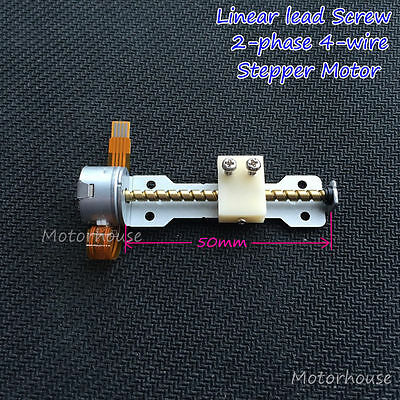 DC 5V 2-Phase 4-Wire Micro Stepper Motor 50mm linear screw lead nut slider block