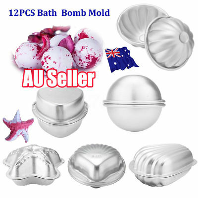 6 Shape 12pcs Aluminum Bath Bomb Molds Cake Pan Baking Moulds DIY Crafting  VW