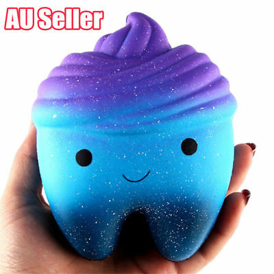 12cm Galaxy Teeth Squishy Scented Slow Rising Squeeze Toys Jumbo Collection VW