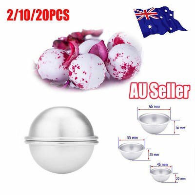 2/10/20x Aluminum Bath Bomb Molds DIY Homemade Crafting Bath Round Ball Moulds V