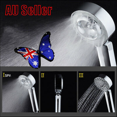3-Stage Magic SPA Shower Head Bathroom Energy Water Saving Head Useful New VW