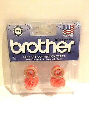 Brother 3010 Lift Off Correction Tapes Pack of 2 free shipping