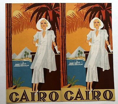 Original 1928 Cairo Egypt Travel Brochure w/ Great Deco Style Cover Image