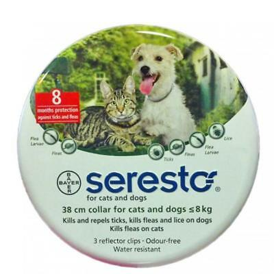 Bayer Seresto Flea & Tick Collar for Small Dogs under 8kg (18 lbs) and Cats V.2