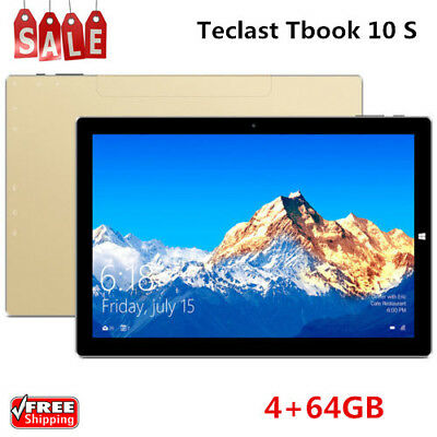 """Teclast Tbook 10 S 2 in1 Tablet PC 4+64GB 10.1"""" Quad Core Windows 10 Android 5.1"""