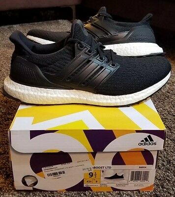info for d6866 7b9dd Adidas Ultra Boost LTD 3.0 Black Leather Cage White Sz 9.5 BA8924