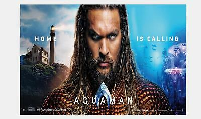 Z-03 Arthur Curry Aquaman DC 2018 Movie Jason Momoa Silk Poster 36x24 45x30