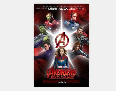New Avengers 4 Movie 2019 The End Game Film Print - 24x36 48x32 Poster Y-062
