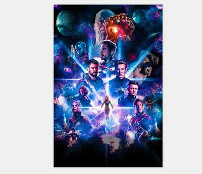 Avengers 4 Movie The End Game 2019 Captain Marvel - 24x36 12x18 Poster Y-064