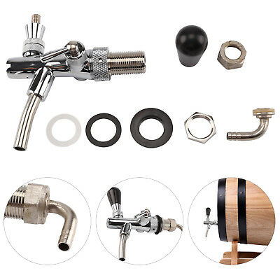Beer Tap Intertap Flow Control Stainless Steel Faucet Shank G5/8 Tap Kit New