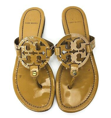 85e4c72c1 Tory Burch Womens 10-11 Miller Sandal Leather Natural Tan Designer Luxury