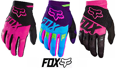 Fox Racing MX Women Dirtpaw Gloves | Biker Girl Gloves | Small and Medium | Pink