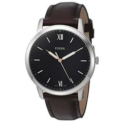 NEW Fossil FS5464 The Minimalist Silver Brown Leather  