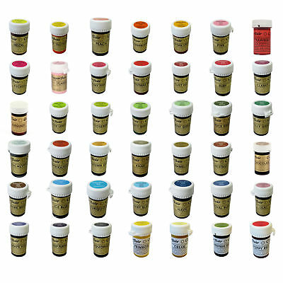 ANY 10 x Sugarflair Concentrated Food Colouring Paste Gel Spectral Pastel 25g