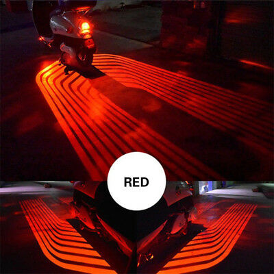 2X Angel Wings Red LED Projector Motorcycle Courtesy Shadow Welcome LED Lights -