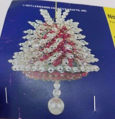 Vintage LeeWards NOEL BELL Boutique Christmas Ornament Craft Kit Sequin Bead