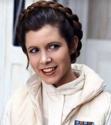 GLOSSY PHOTO PICTURE 8x10 Actress Carrie Fisher Princess Leia Beauty Smiling