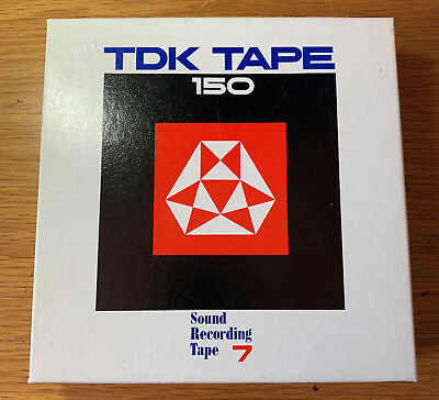 """TDK Tape 150 Reel to Reel Sound Recording Tape 7"""" (555m, 1800ft) New Never Used"""