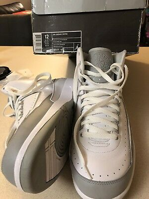 best sneakers 555ad b3bd2 Nike Air Jordan II 2 Retro White Silver-Grey 25th Anniversary 385475-101