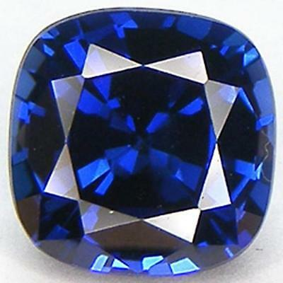 EXCELLENT CUT CUSHION 8x8 MM. BLUE SAPPHIRE LAB CORUNDUM