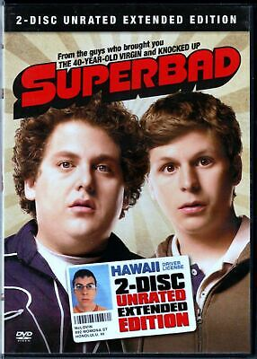 Superbad - 2 Disc Unrated Extended Edition DVD NEW BuyCheapDVD Auction FAST SHIP