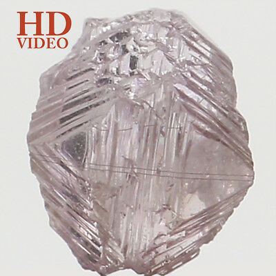 Natural Loose Diamond Rough I3 Clarity Pink Color 4.30 MM 0.31 Ct N8081