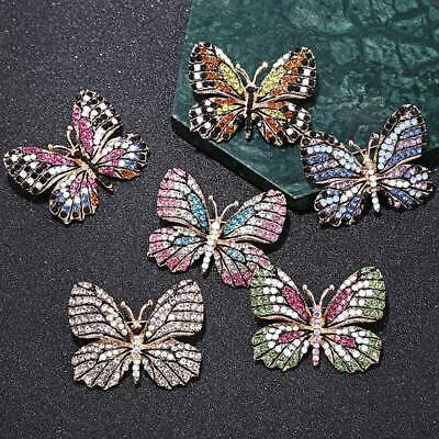 Butterfly Brooch Crystal Rhinestone Brooches for Women Ladies Fashion Jewelry