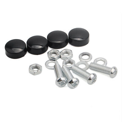 4PCS Car License Plate Frame Security Screw Bolt Caps Covers Fit For Suzuki
