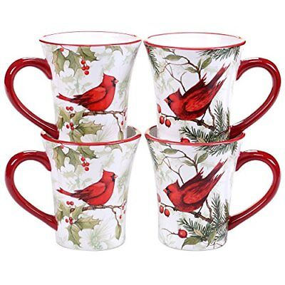 9fedf65f4d0 Certified International 32363SET/4 Winter Field Notes 16 oz Mugs  Dinnerware, Mul