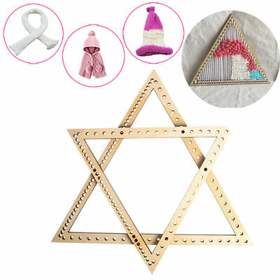 2pcs Wood Triangle Weaving Knitting Loom Tool for DIY Tapestry Wall Hangings