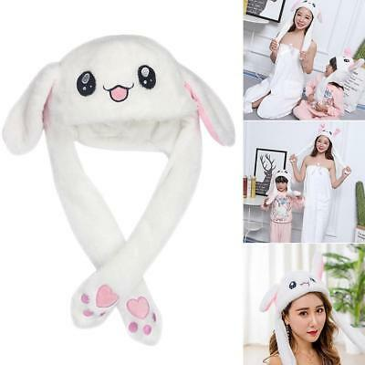 Funny Rabbit Bunny Ear Moving Hat Airbag Cap Soft Plush Cute Hats Toys Gift