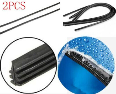 """2X Universal Vehicle Frameless Replacement Rubber Wiper Blade Refill 26"""" 6mm NEW"""