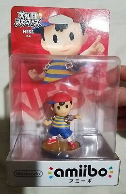 NINTENDO SUPER SMASH Bros Wii U Ness Mother Earthbound Amiibo Japanese  Import