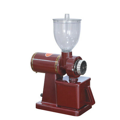 Red Electric Conical Espresso Coffee Bean Grinder Coarse Mill Fine Grinding