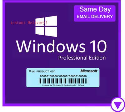 WINDOWS 10 PROFESSIONAL WIN 10 PRO Key 32/64Bit Lizenzschlüssel, via mail