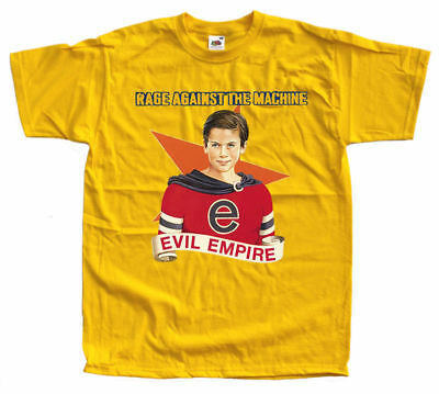 Rage Against The Machine - Evil Empire yellow T Shirt all sizes S-5XL100% cotton