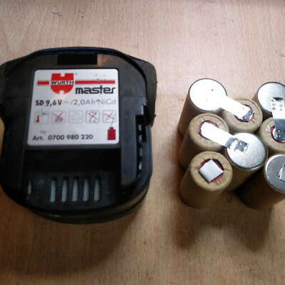 1 Bloc batterie AEG  WURTH   Milwaukee  9,6 2Ah /akku  /batteria /batery